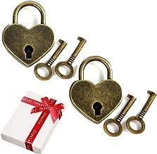 2 Tailles Id/ée Cadeau sans Gravure 5,5 x 4 x 1 cm m/étal Relaxdays 10024064 damour lot Motif c/œur argent/é Cadenas Romantique Couple