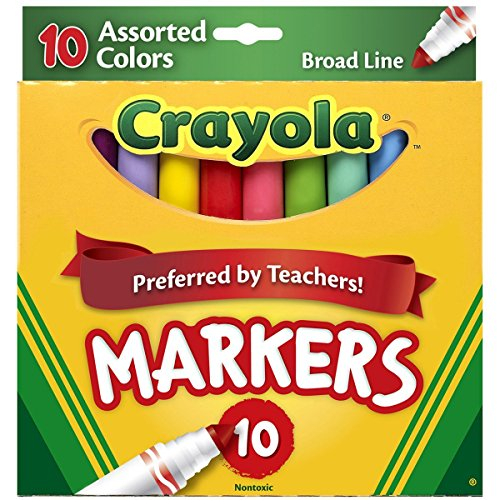 Crayola 10ct Broadline Markers - Bold and Bright