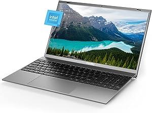 Windows Laptop 15.6 inch 8GB RAM DDR4 256GB M.2 SSD Notebook Computers, Intel J4125Quad-Core Computer Laptop, 1080P IPS Windows10 Pro PC Laptops, Full Size Keyboard
