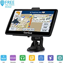 Car GPS Navigation, 7 inch Turn-by-Turn Direction Reminding Real Voice Spoken Navigation System for Car GPS,World Map with Lifetime Free Update, with Post Code Search Speed Camera Alert