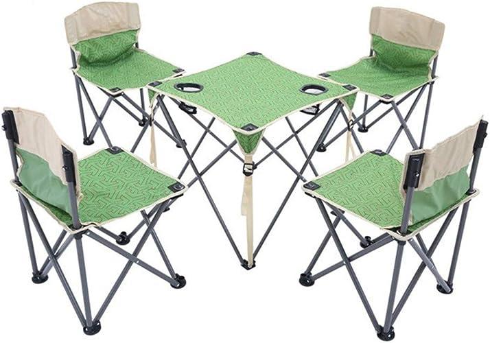 Gimitunus Les chaises nettes portatives de Filet de Table de Camp de Plein air léger Ont placé Le Sac de Transport, chaises + Table, Taille compacte Camper, Voyage, pêche, BBQ