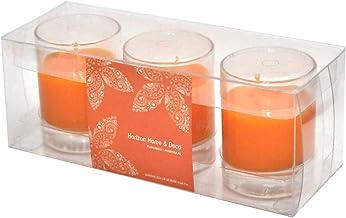 شمع صغيرة الحجم  ، رائحة البرتقال ، برتقالي