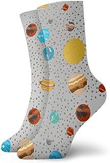 Dydan Tne, Planet Star Planet Star Impreso Calcetines de Vestir Calcetines Divertidos Calcetines Locos Calcetines Casuales para niñas Niños