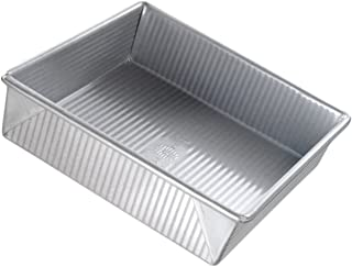 USA Pan Bakeware Cake Pan, Nonstick & Quick Release Coating, Made in the USA from Aluminized Steel 9-Inch 1130BW