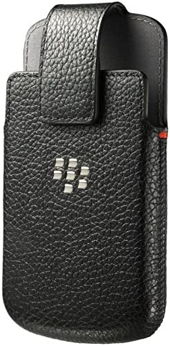wholesale BlackBerry ACC-60088-001 new arrival Leather Swivel Holster Case for Blackberry Classic Q20 - Retail Packaging new arrival - Black online sale