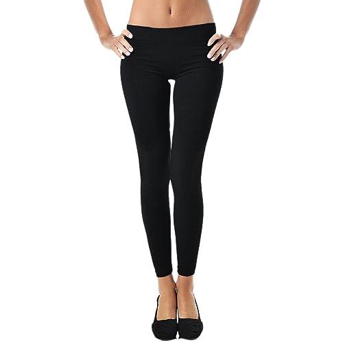 6d92b6e0f69021 Leggings for Women | Comfy Cotton Leggings w/ Elastic Comfort Waist -Mato &  Hash
