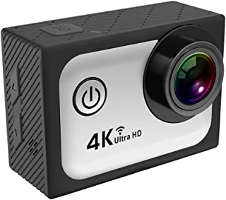 OVTECH 360度カメラ パノラマカメラ 3D・VR アクションカメラ 30メートル防水 (Q5H3, グレー)