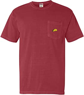 Adult Taco Embroidered Short Sleeve Pocket T-Shirt
