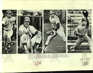Historic Images - Press Photo Los Angeles Dodgers Baseball Player Action Shots