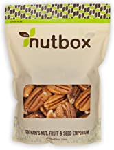 Nutbox Dry Roasted Pecan Halves Salted 2 Pounds Oven Baked, No Oil, Not Fried, No Shell, Naturally Gluten Free, No Preserv...
