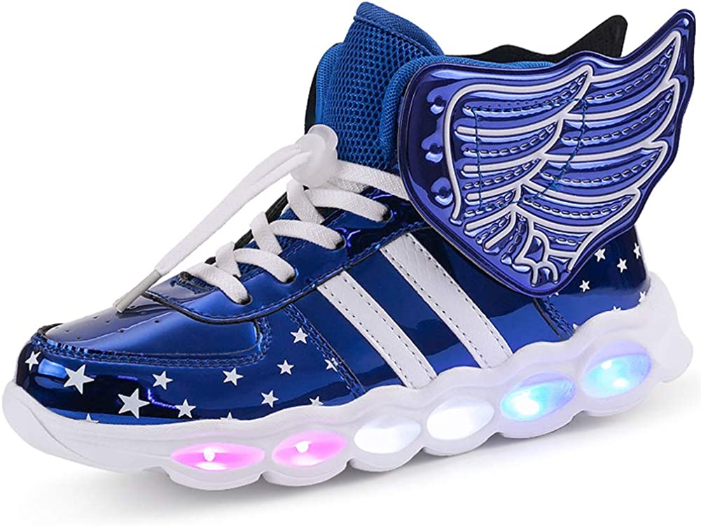 Z.SUO Kids LED Light up Shoes Sne High-top Free shipping New Flashing Charging USB New product!!