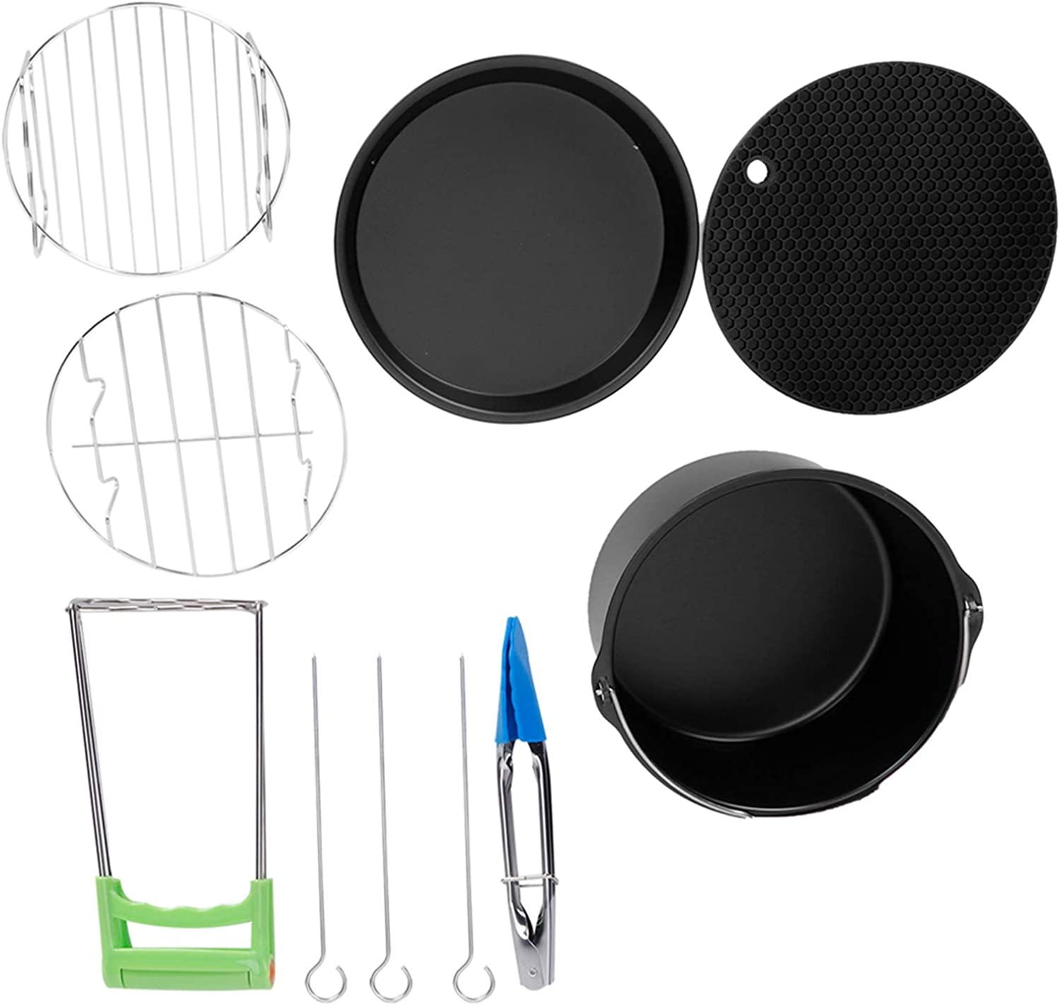 7 Inch Round Cake Pan Pizza Max 43% OFF Skewer Recommendation Mat Silicone Grill Baking