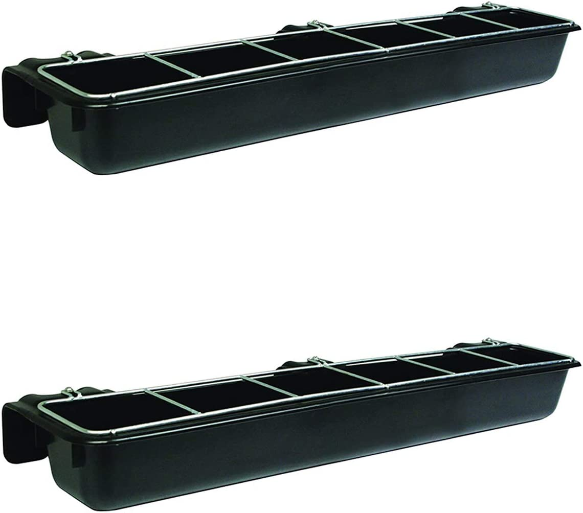 Little Ranking TOP10 Giant HF9BLACK Hook Over Galvanize Heavy Goat Trough Duty free