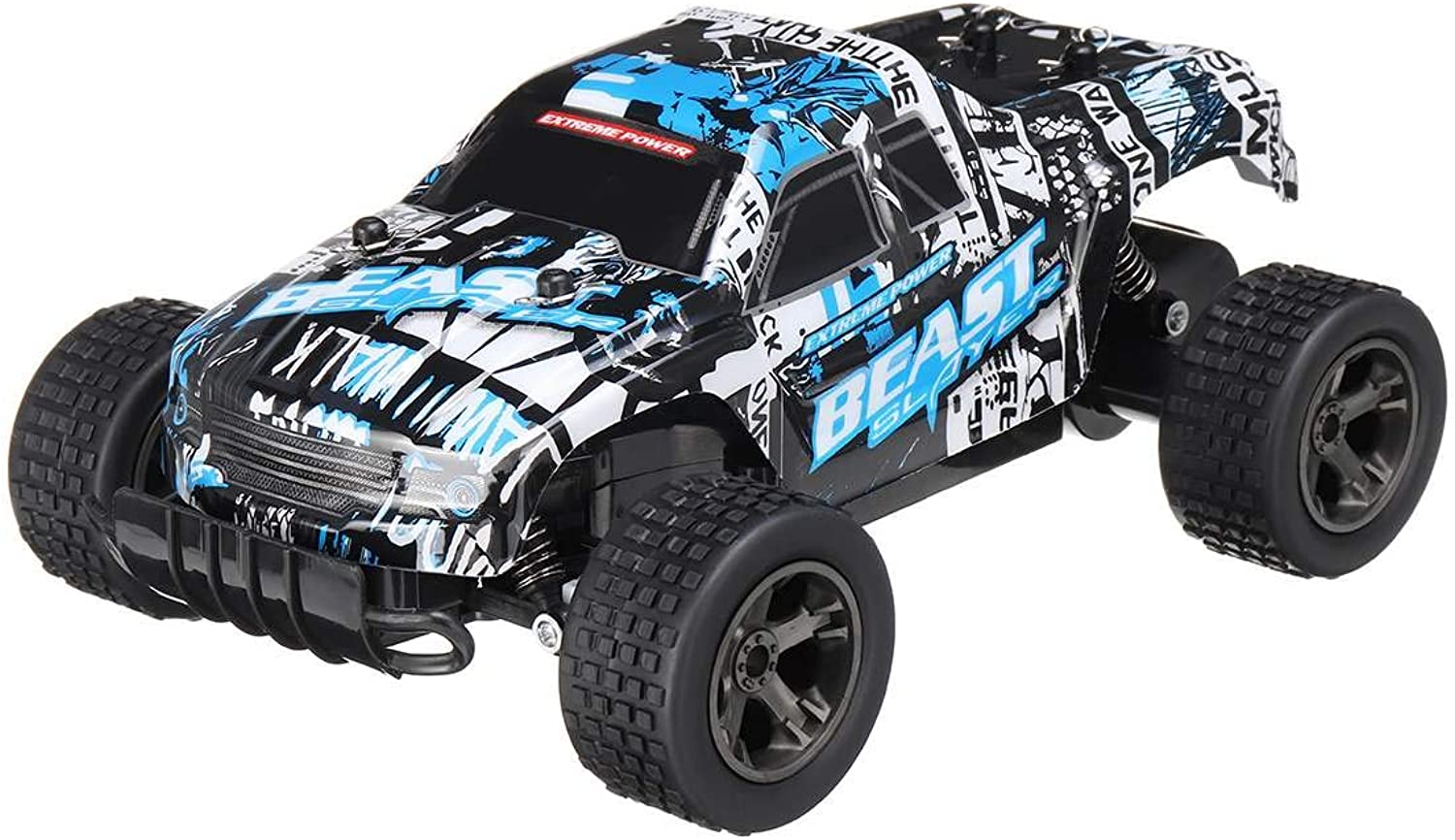 Generic RC Car 48KM H 2.4ghz 1 20 4WD Remote Control High Speed Truck Electric Truck Offroad Vehicle 4x4 Driving Car Vehicle Toy bluee