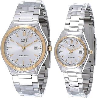ساعة كوارتز للجنسين من كاسيو - انالوج بسوار ستانلس ستيل - MTP/LTP-1170G-7