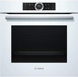 Bosch HBG635BW1 Serie 8 Einbau-Backofen / A / 71 L / Weiß / Klapptür / TFT-Display / 13 Beheizungsarten / AutoPilot 10 / EcoClean Direct / 4D Heißluft