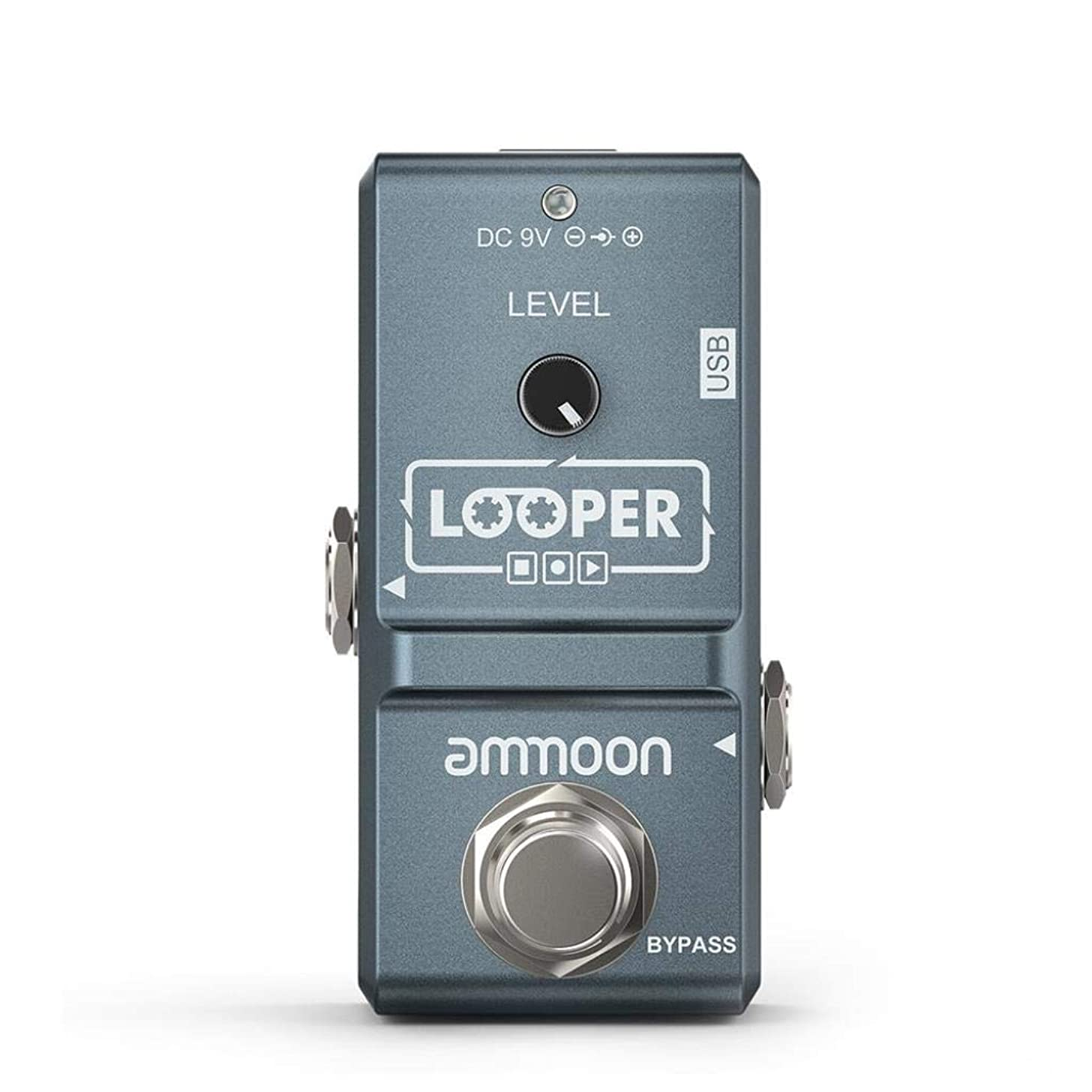Electric Mixer Guitar Simple Effect Pedal Looper Unlimited Overdubs 10 Minutes Recording Guitar Effector (color : Blue)