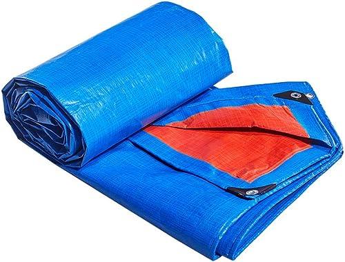 Baches ZXMEI, Revêtement De Sol en Imperméable Verte Solide for Le Camping, La Pêche, Le Jardinage Et Les Animaux Domestiques (Bleu) (Taille   5x10m)