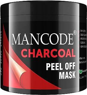 Mancode Charcoal Peel Off Mask for Men - 100gm, Detoxifies Skin, Deep Cleansing, Prevents Pore Clogging, Removes Blackhead...