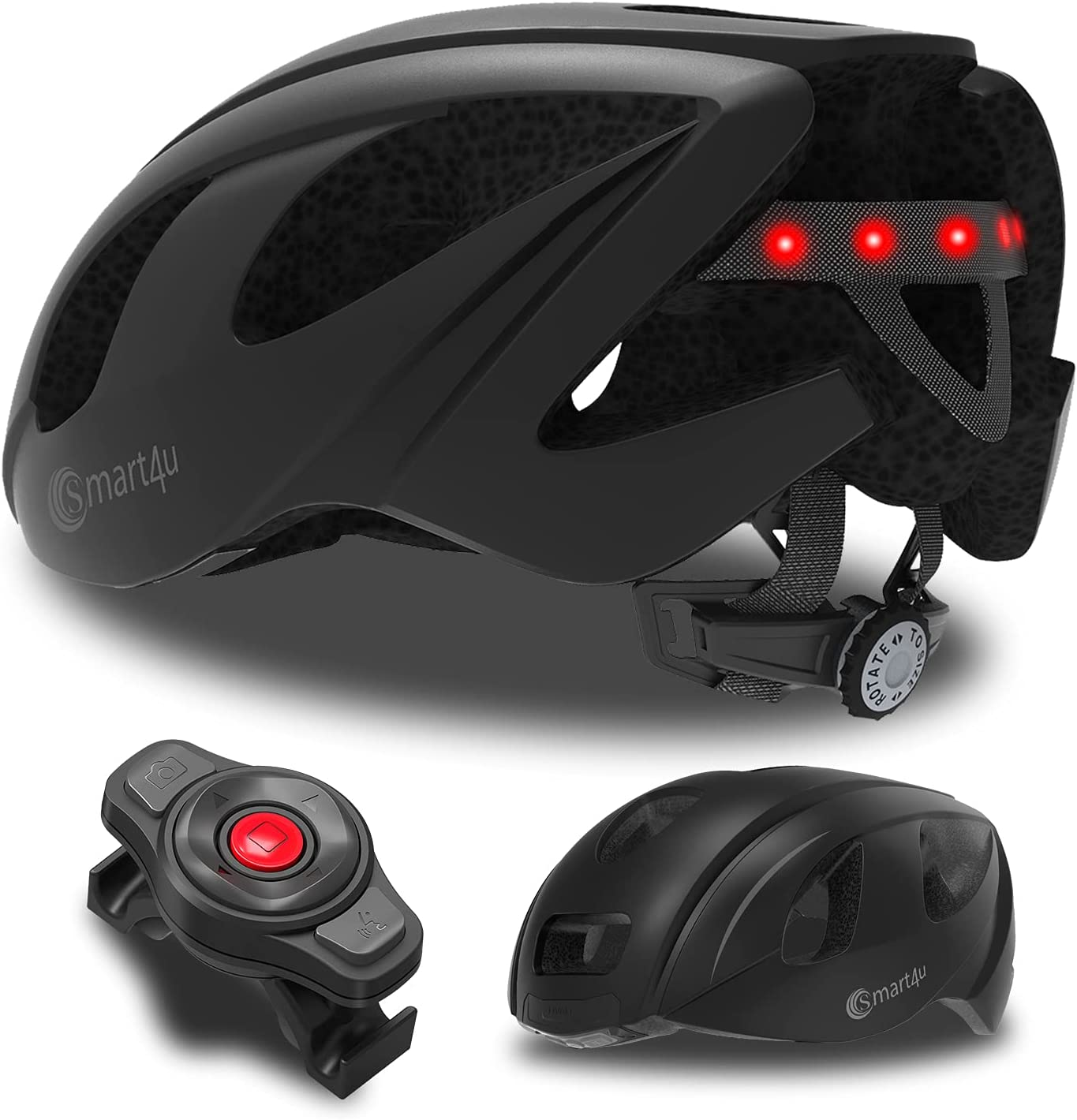 Smart4U SH55M Adult Bike Safety and trust Super popular specialty store Helmet with Rear LED Bicyc Smart Light