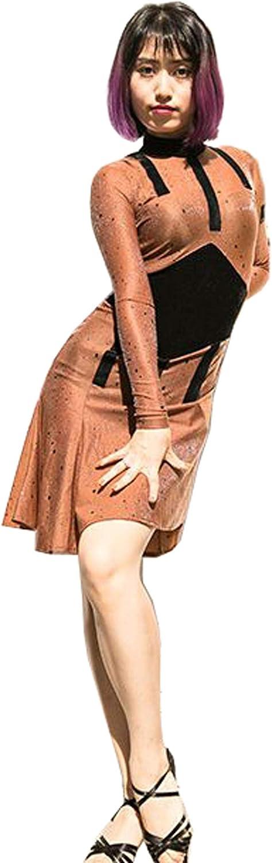 Contrast color Latin Dress Cha Cha Dress Waltz Skirt Tango Dress
