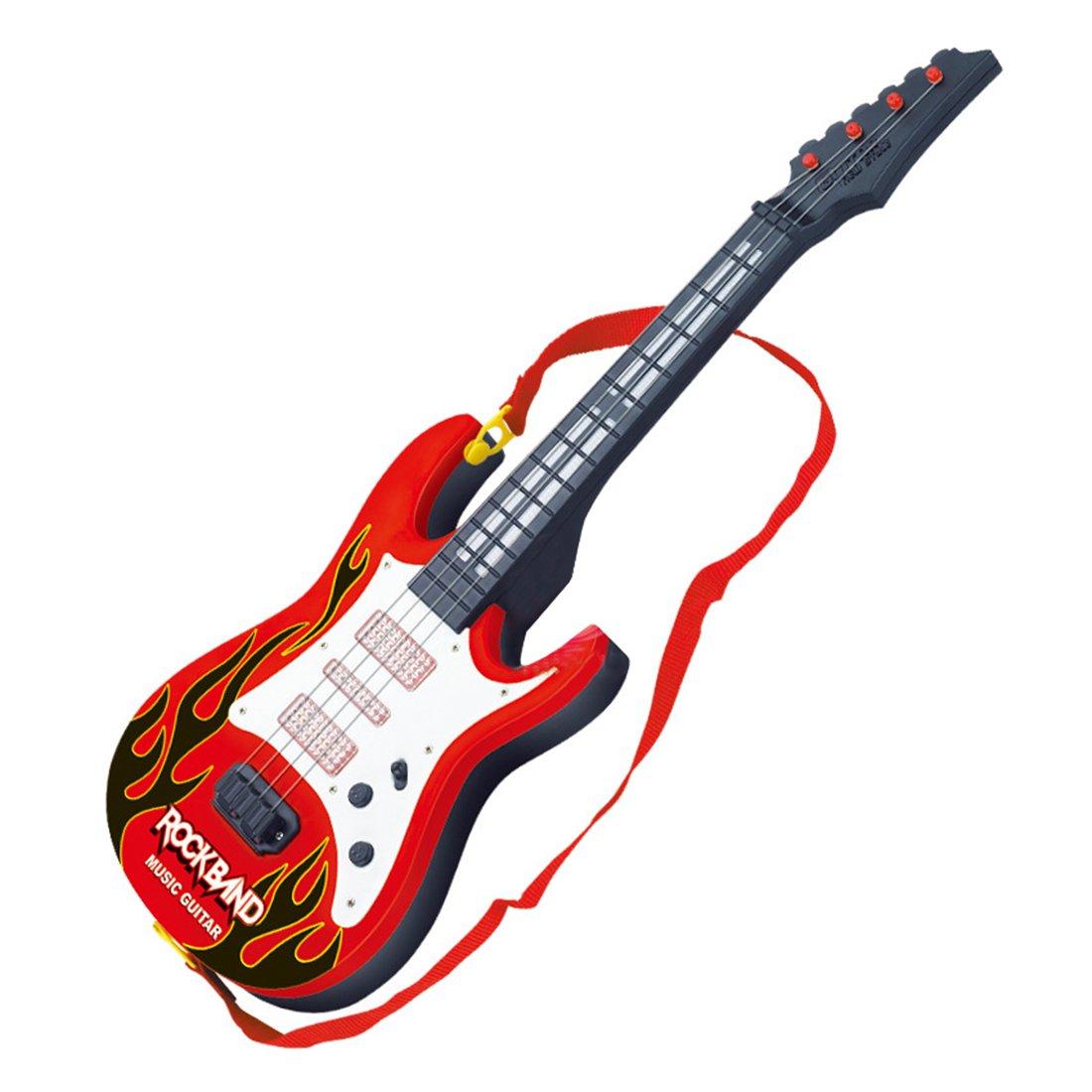Wolfbush Banda Rock Música Guitarra Eléctrica 4 Cuerdas Niños ...