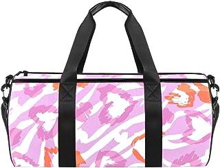 DJROWW Reisetasche aus Segeltuch mit Leopardenmuster, Pink