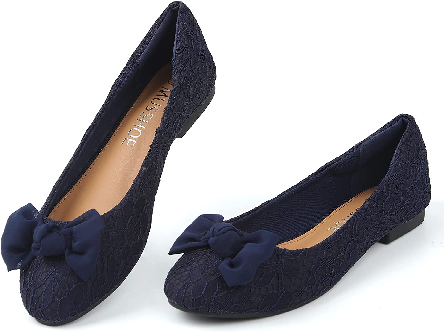 MUSSHOE Flats for Women Clearance SALE Limited Max 45% OFF time Floral Lace Comfortable Sl Women's