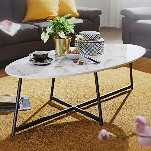 Eternity-Moebel24 Couchtisch Beistelltisch - Hero - Wohnzimmertisch Tisch in Marmor Optik