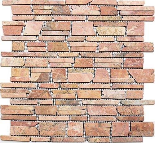 Natura del mosaico di pietra multi formato rosso