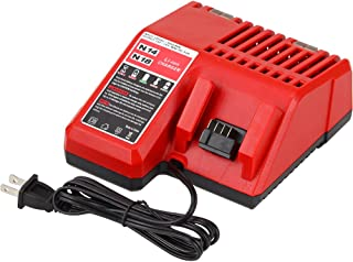 Replacement for Milwaukee M18 Battery Charger 14.4V-18V Lithium ion XC 48-11-1850 48-11-1840 48-11-1815 48-11-1828