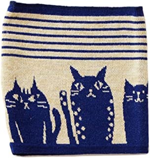 Kaya Japanese Haramaki Stomach/Body Warmer Belt Stripe and Cat Design Navy Kids Size