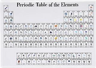 صندوق أكريليك KKMOON عرض الدوري للأطفال أداة تعليمية لتزيين المنزل عرض العناصر الكيميائية الكريستالية