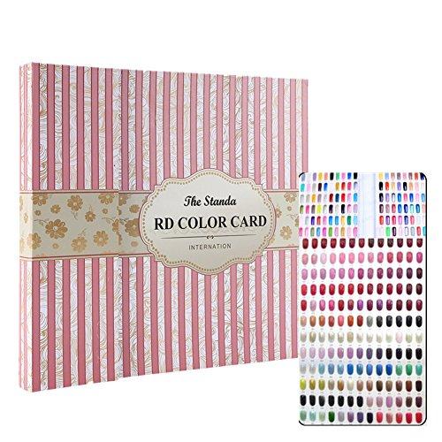 120 Farben Nailart Display Farbkarte Buch, Salon Gel Farben Anzeigen Nagellack Muster Designs Nagelspitzen Speicher Werkzeuge (Streifenabdeckung)