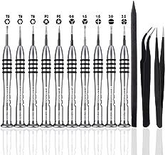 SIQUK 14 Pcs Pentalobe Screwdriver Tool Kit Precision Magnetic Screwdriver, Tweezer and Helper Stick for MacBook Air, Pro and Retina, Nintendo Switch, iPhone(Bonus: 1 Storage Bag + 1 Cleaning Cloth)