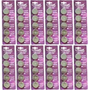 60 Pcs 2450 Batteries (CR2450/ DL2450/ E-CR2450) Lithium 3v (12 Packs of 5) By Loopacell