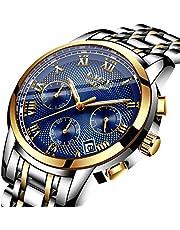 メンズ時計クオーツクロノグラフウオッチ日付表示 ラグジュアリー おしゃれ ビジネス腕時計ミリタリースポーツ ブラック
