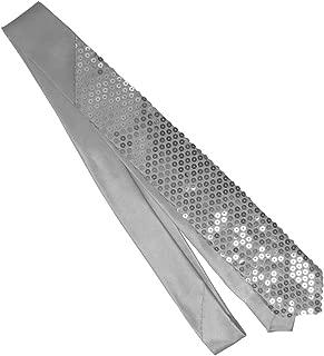Sequin sparkle necktie (silver sequins)
