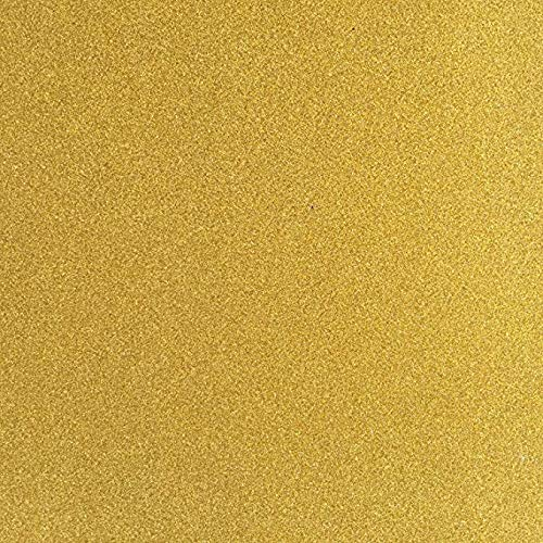 TooMeeCrafts 11 Inches by 8 Inches Glitter Cardstock, Bright Gold Color,Pack of 10