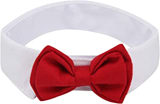 ZTON for Little Puppy, Handcrafted Adjustable Formal Pet Bowtie Collar Neck Tie for Dogs & Cats