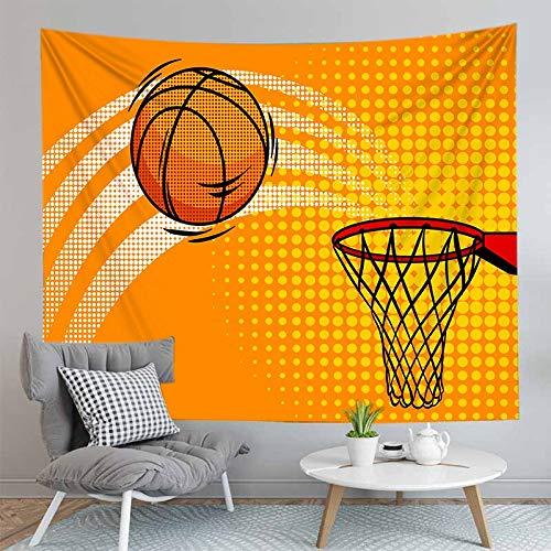 PPOU Impresión 3D niño Baloncesto Tapiz Colgante de Pared Arte de la Pared decoración del hogar Tapiz de Tela de Fondo Manta de Playa A4 73x95cm