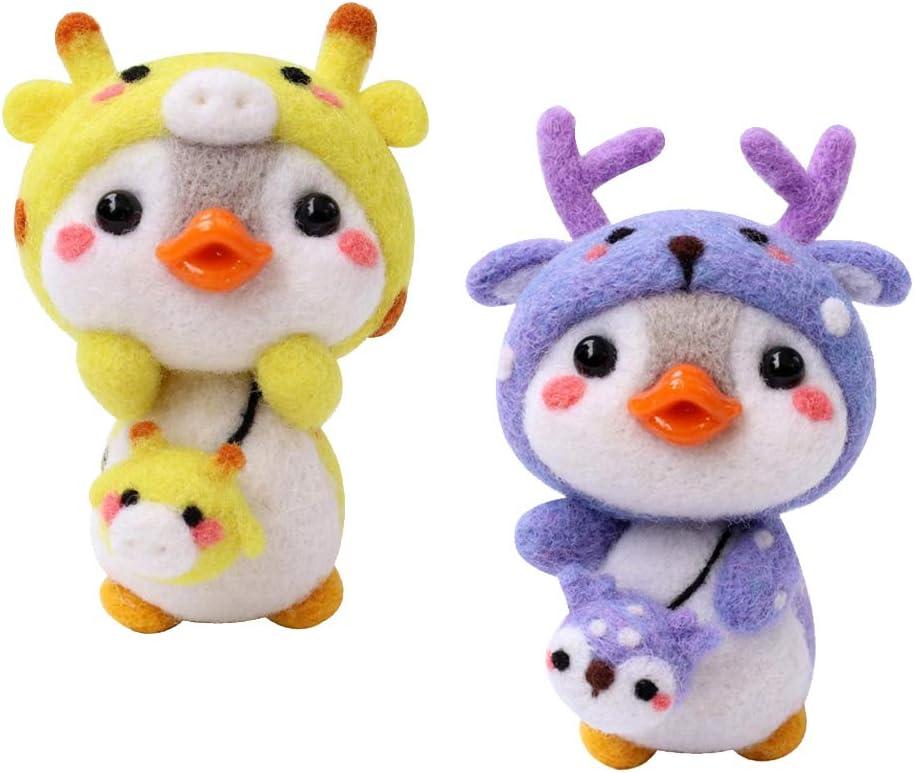menolana 2 Branded goods Pack Cartoon Animal Felting Max 60% OFF Wool Beginners for H Kits