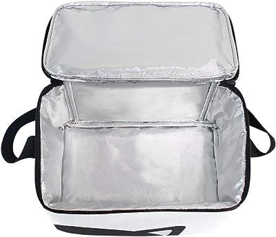 Bolsa aislada para almuerzo, diseño de gato negro con araña, bolsa con correa para la escuela, oficina, picnic, bolsa refrigeradora para hombres, mujeres, adultos, niñas, niños y niñas