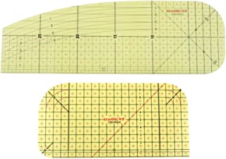 Régua de ferro quente F Fityle 2X para roupas de resina, ferramentas de rastro de patchwork