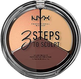 NYX PROFESSIONAL MAKEUP 3 Steps to Sculpt Face Sculpting Palette, Medium 03