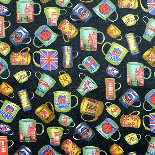 SEWCRAFTE Tela de algodón de popelín para Costura, Costura, confección de Vestidos, Ancho 114 cm, se Vende por Cuarto de Metro (0,25 cm)