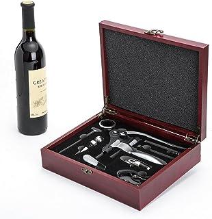 Cooko Korkdragare, manuell vinöppnarsats med luftare och pip, zinklegering handtag korkskruv deluxe vinöppnare tillbehör m...