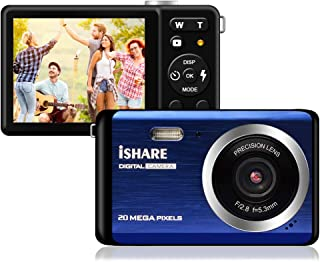 Compact Digital Camera, Rechargeable 20MP Kids Camera...