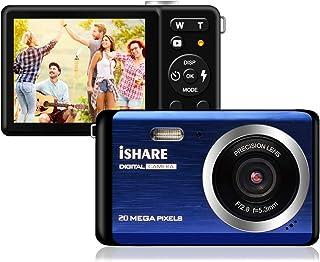 コンパクト デジカメ 子供用デジタルカメラ デジカメ HD 2000万画素 8倍デジタルズーム 2.8インチTFTスクリーン ファッション カメラ(ブルー)