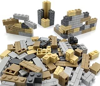 ZHX 120 PCS City DIY Block Wall Brick Building Blocks Parts Compatible with All Major Brands Blocks Creative Children Toys Gifts